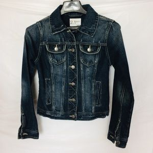 Denim Jean Jacket Distressed S/P